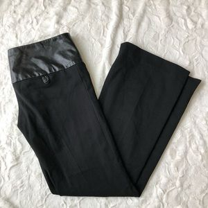 Alvin Valley Black Leather Flare Pants- Women's 38